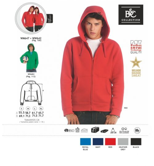 SWEATSHIRT B&C FULL ZIP