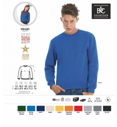 SWEATSHIRT B&C SET IN CORES