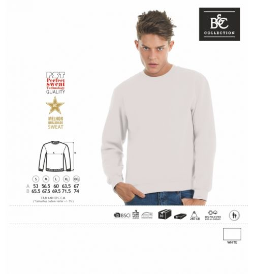 SWEATSHIRT B&C SET IN BRANCO