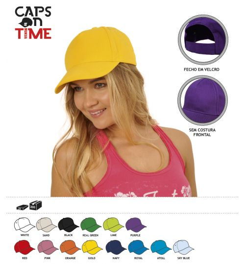 BONÉ CAPS ON TIME TOP
