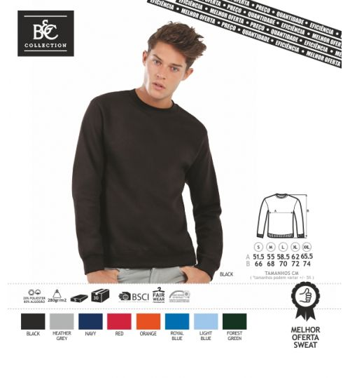 SWEAT-SHIRT BC ID002 CORES