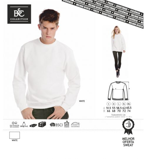SWEAT-SHIRT BC ID002 BRANCO